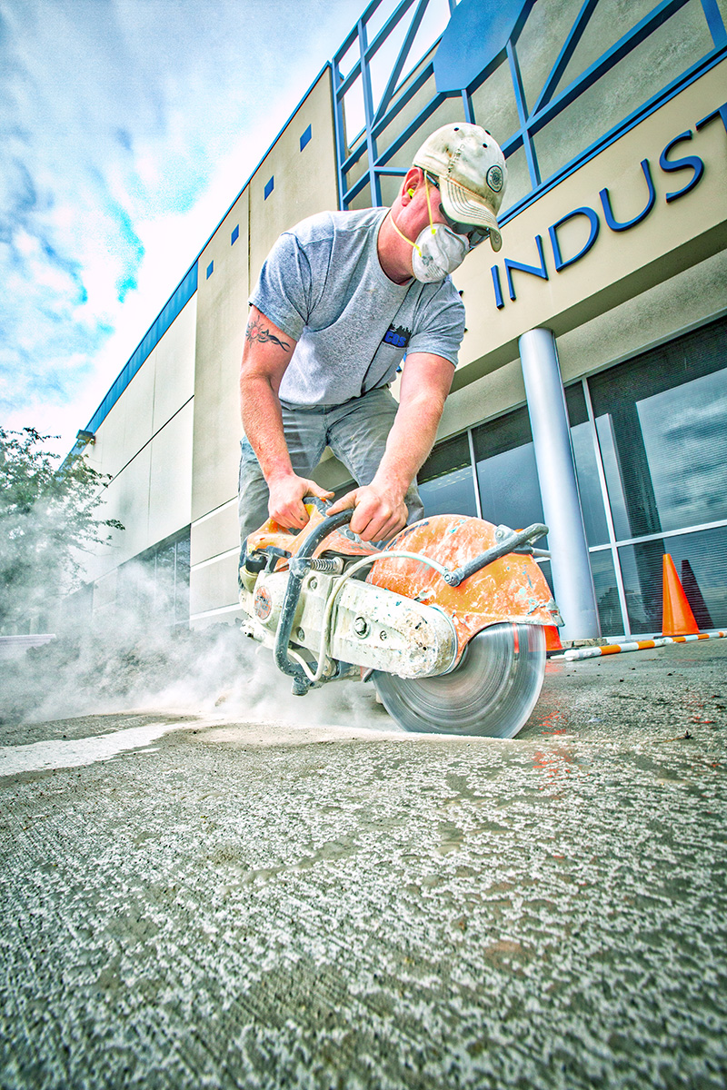 Twin Cities Outdoors, Concrete, saw, cutting, Stihl