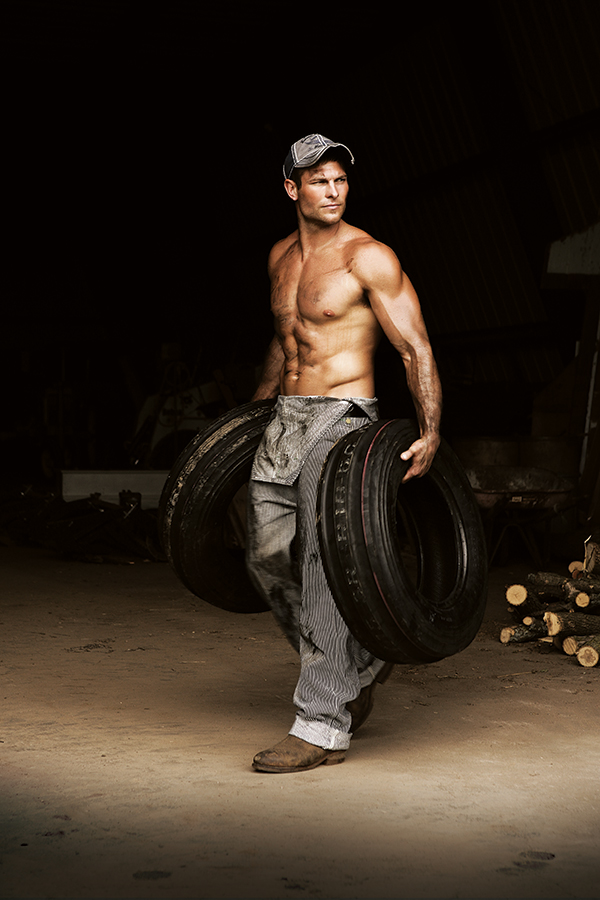 Farm Boy, Farm Girl, Catalog, Farmer, Tires, Greasy, Dirty, Overalls, Boots, Muscle, Man, young man, strong