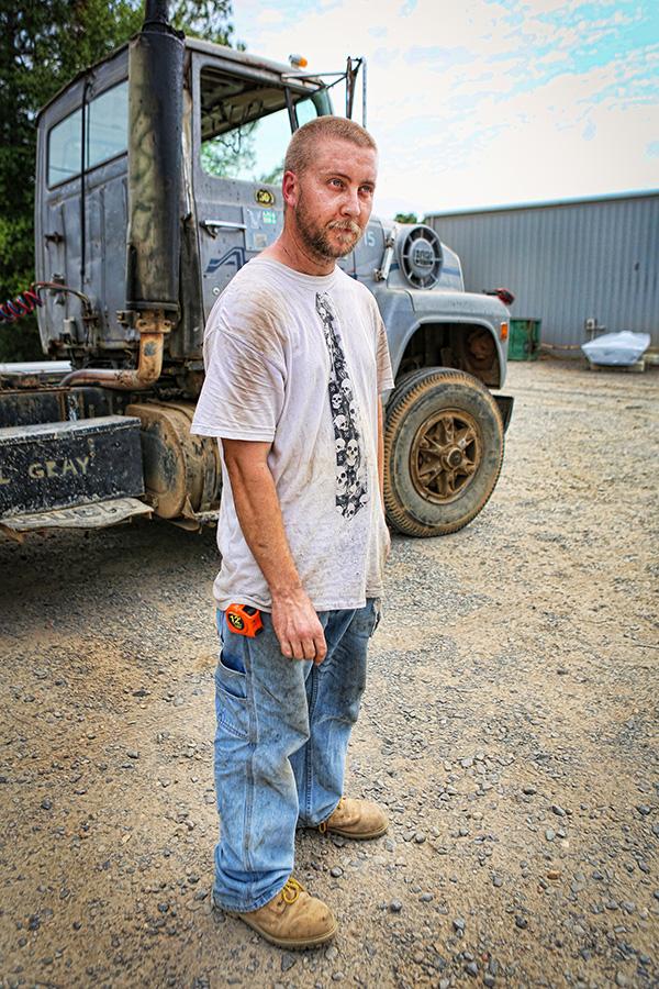 Truck Driver, Arkadelphia, Arkansas, Dirt, gravel, semi truck, Plant, Old Truck