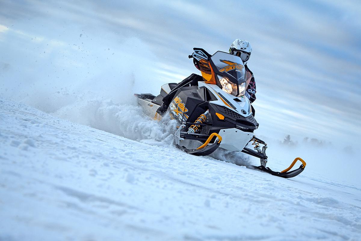 Ski-Doo, Snow Machine, Snow Mobile, Winter, Snow, Lake Vermillion, Minnesota, Castle-X, Speed